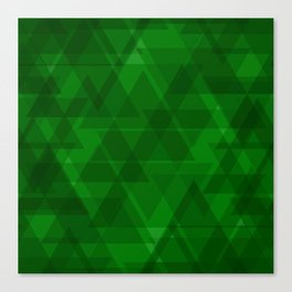 Bright green triangles in intersection and overlay. Canvas Print