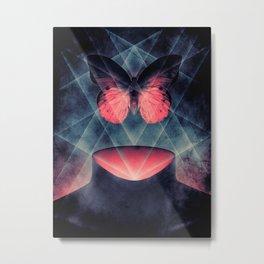 Beautiful Symmetry Butterfly Metal Print