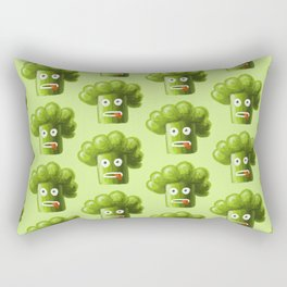 Green Funny Cartoon Broccoli Rectangular Pillow