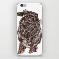 hare iPhone & iPod Skins featuring Hare by Meredith Mackworth-Praed
