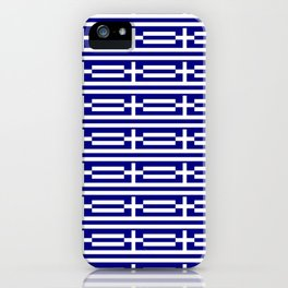 flag of greece 2-Greece,flag of greece,greek,Athens,Thessaloniki,Patras,philosophy,theater,tragedy iPhone Case