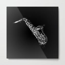 Alto Saxophone Metal Print