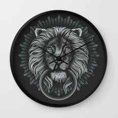 Stone Lion Wall Clock