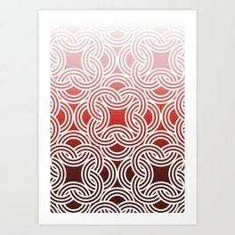 Ombre Abstract Circle Pattern Art Print