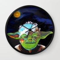 jedi Wall Clocks featuring Forever jedi by Gabriela Trejo