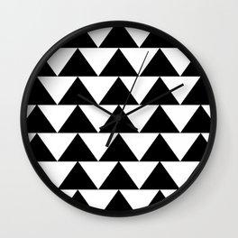 Black & White Triangles Wall Clock