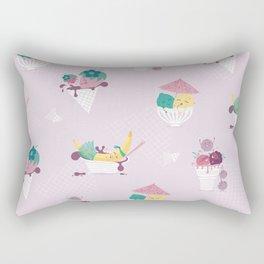 Fruity Ice Cream Rectangular Pillow