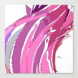 Purple Waves Canvas Print