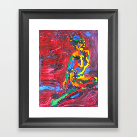 Colorful Nude Framed Art Print