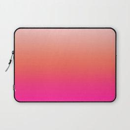 Gradient Ombre Living Coral Millennial Plastic Pink Pattern Peachy Orange Soft Trendy Cute Texture Laptop Sleeve