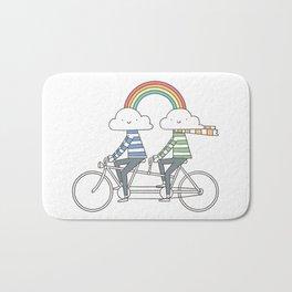 Love makes life a beautiful ride Bath Mat