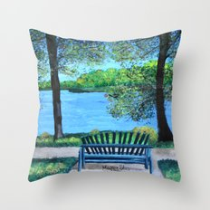 Place for lovers  Throw Pillow