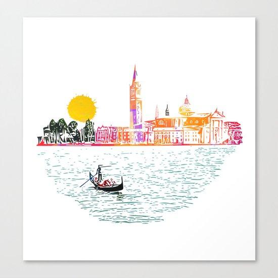 Sunset in Venice Canvas Print