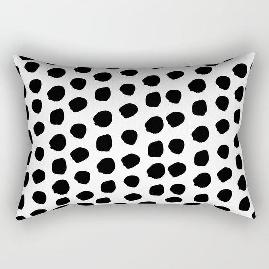 Sam - Black and White, Brushstroke,  Paint, Painterly, Design, Charlotte Winter Cell Phone Case Rectangular Pillow