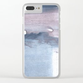 Dark gray colorful watercolor texture Clear iPhone Case