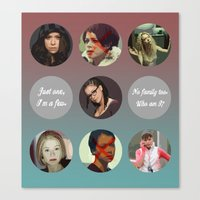 orphan black Canvas Prints featuring Orphan Black, Family by Your Friend Elle