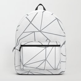 Ab Outline 2 Grey on White Backpack