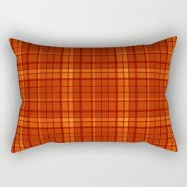 Orange plaid Rectangular Pillow
