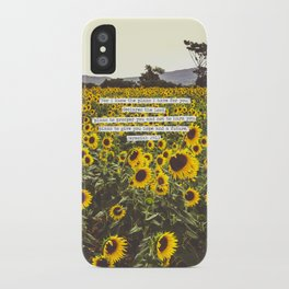 Jeremiah Sunflowers iPhone Case