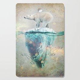 Polar Bear Adrift Cutting Board