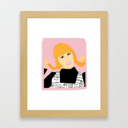 Knock Knock! Momo Pink Framed Art Print