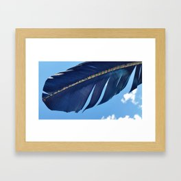 Blue Skies Feathers Floating By Framed Art Print