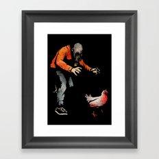 Leroy VS The Zombie Chicken Framed Art Print