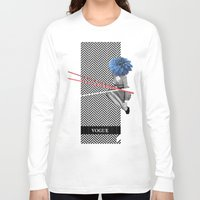 vogue Long Sleeve T-shirts featuring Vogue by Frank Moth