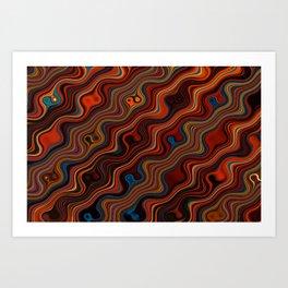 Marble Lava 80 magic fluid digital Hi Res Art Print
