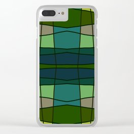Green Pattern Turtle Clear iPhone Case