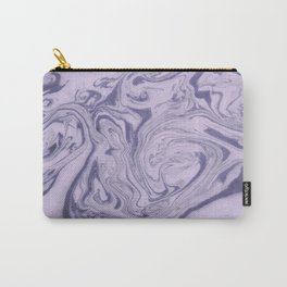 Marble Acrylic Purple Carry-All Pouch