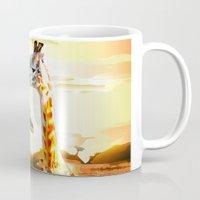 giraffes Mugs featuring Giraffes by Eric Bassika