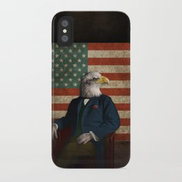 Official Portrait of Senator Silas Eagle iPhone Case