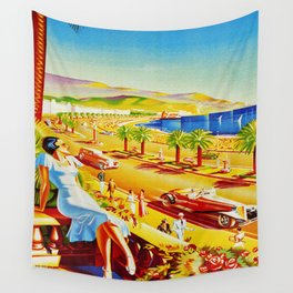 Vintage Nice Italy Travel Wall Tapestry