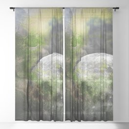 MOON under MAGIC SKY XIII Sheer Curtain