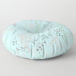 Light And Lovely Spring Floral Garden Pattern Floor Pillow