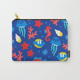 Under the Sea Playful Ocean Pattern Carry-All Pouch
