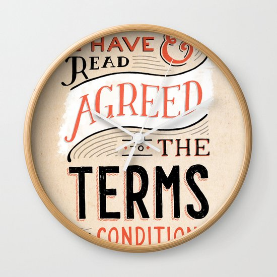 Terms and Conditions Wall Clock