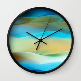 Dunes Collection - Blue  Wall Clock