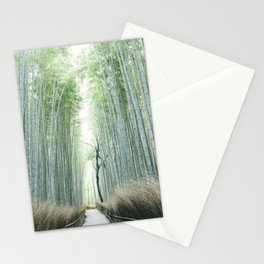 Japan Photography - Path Through A Bamboo Forest Stationery Cards