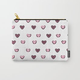 Black and White Heart design Carry-All Pouch