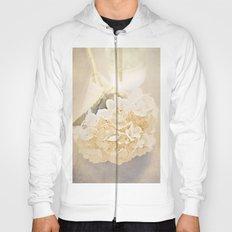 White Hydrangea Hoody