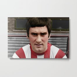 Jim Baxter in colour Metal Print