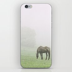 Leopard in the mist.  iPhone & iPod Skin