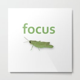 Focus Grasshopper Metal Print