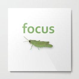 Focus Grasshopper Metal Print