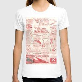 The old newspaper, vintage design illustration T-shirt