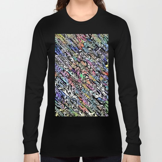 Chaotic Colorful Shapes Long Sleeve T-shirt