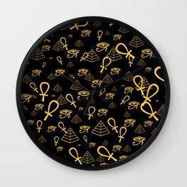 Kemetic Print Wall Clock