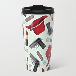 Peggy Carter Pattern Travel Mug